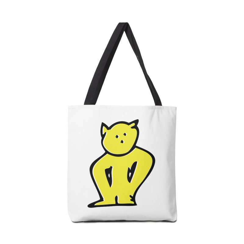 Dusty Cartoon Yellow Accessories Tote Bag Bag by Doctacon's Artist Shop
