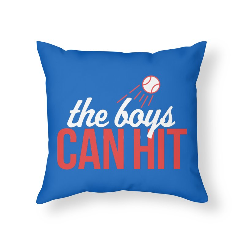 The Boys Can Hit Home Throw Pillow by Official DodgerBlue.com Shop