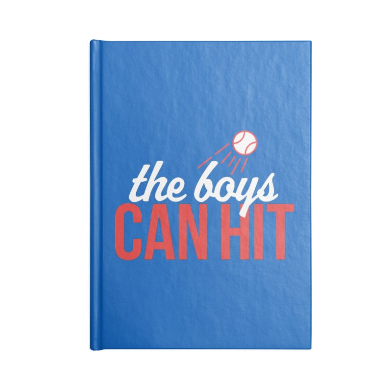 The Boys Can Hit Accessories Lined Journal Notebook by Official DodgerBlue.com Shop