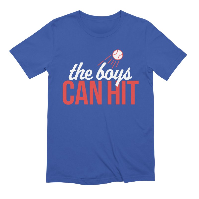 The Boys Can Hit in Men's Extra Soft T-Shirt Royal Blue by Official DodgerBlue.com Shop