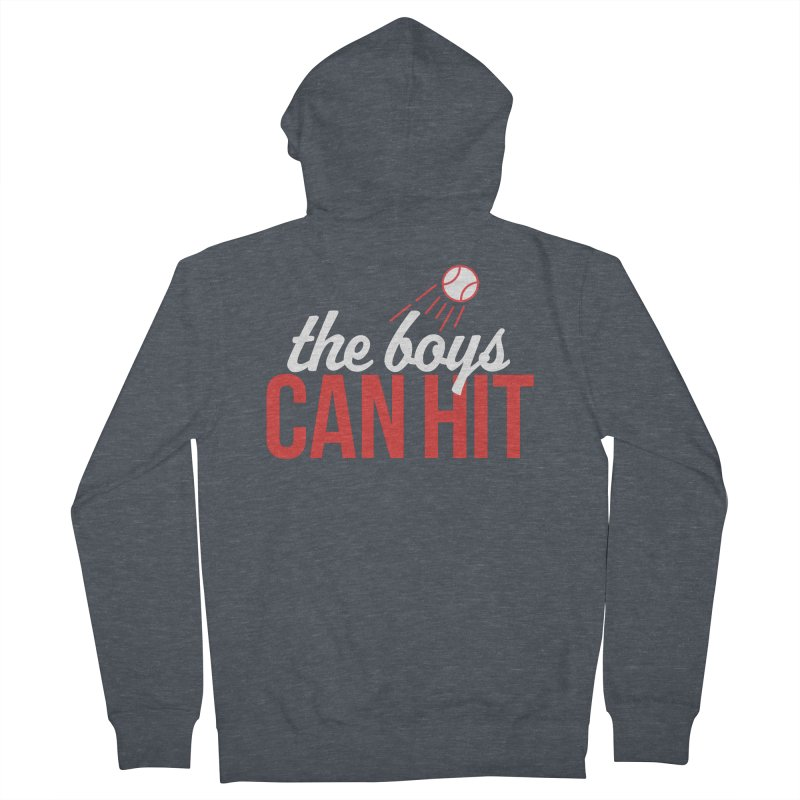 The Boys Can Hit Men's French Terry Zip-Up Hoody by Official DodgerBlue.com Shop
