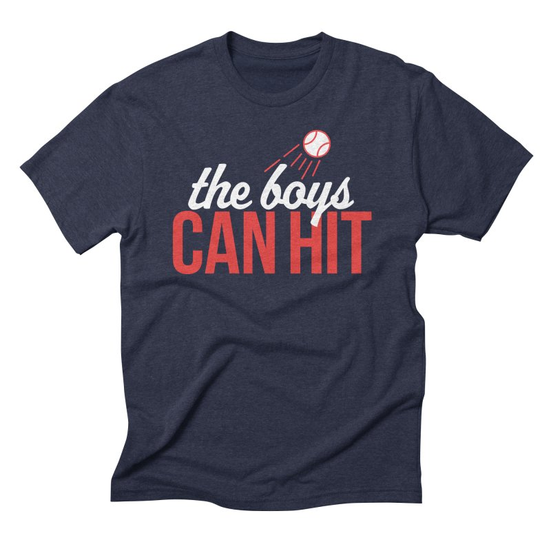 The Boys Can Hit Men's Triblend T-Shirt by Official DodgerBlue.com Shop