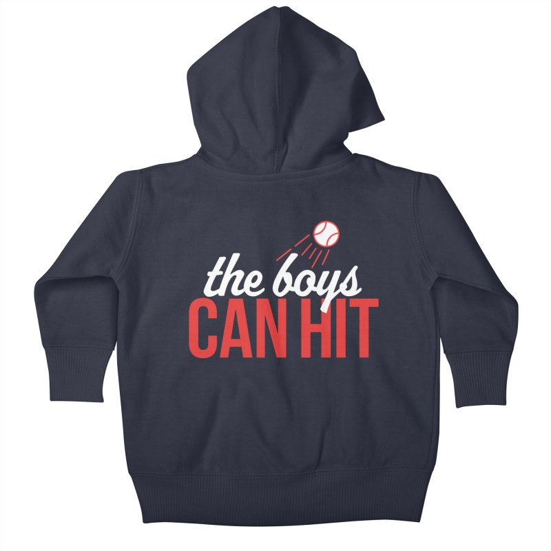 The Boys Can Hit Kids Baby Zip-Up Hoody by Official DodgerBlue.com Shop