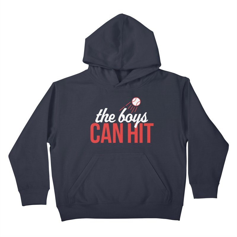 The Boys Can Hit Kids Pullover Hoody by Official DodgerBlue.com Shop