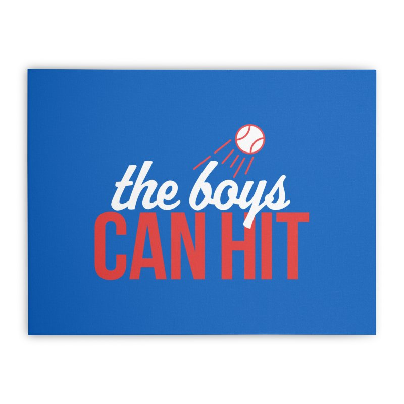 The Boys Can Hit Home Stretched Canvas by Official DodgerBlue.com Shop