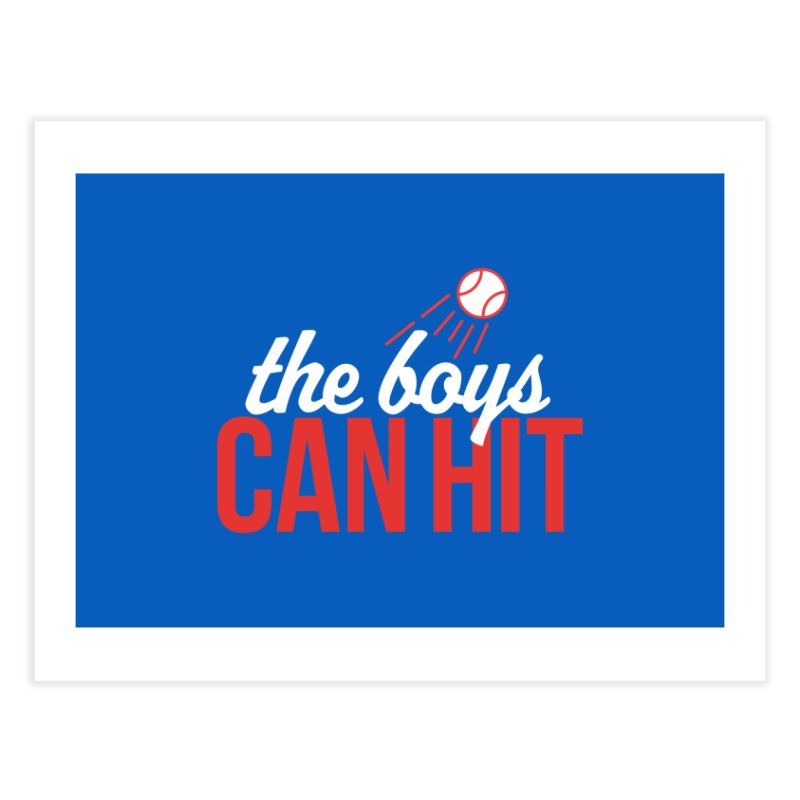 The Boys Can Hit Home Fine Art Print by Official DodgerBlue.com Shop
