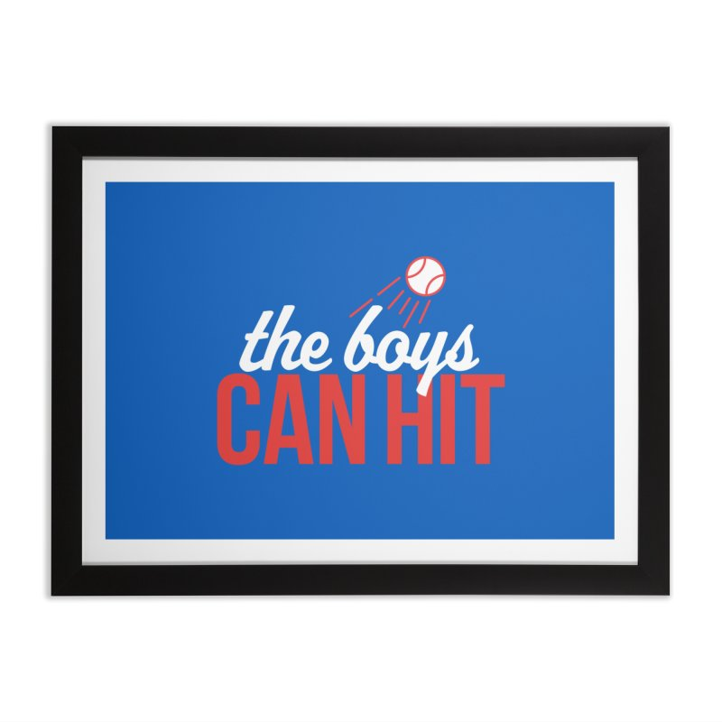 The Boys Can Hit Home Framed Fine Art Print by Official DodgerBlue.com Shop