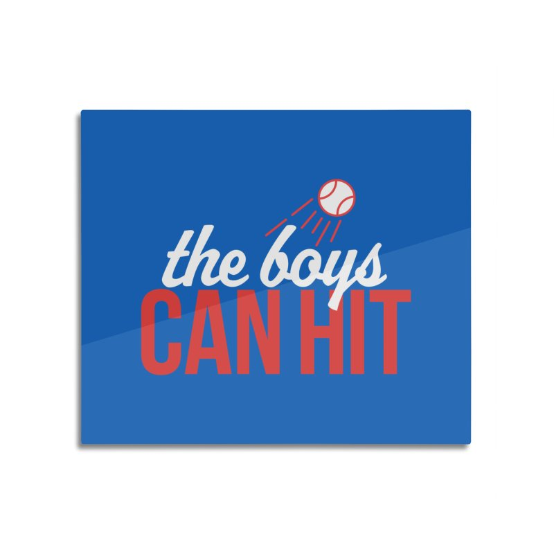 The Boys Can Hit Home Mounted Acrylic Print by Official DodgerBlue.com Shop