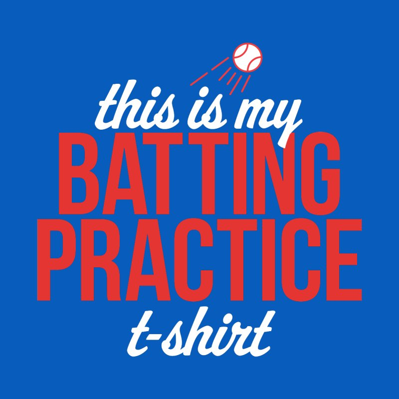 Batting Practice T-Shirt Women's V-Neck by Official DodgerBlue.com Shop