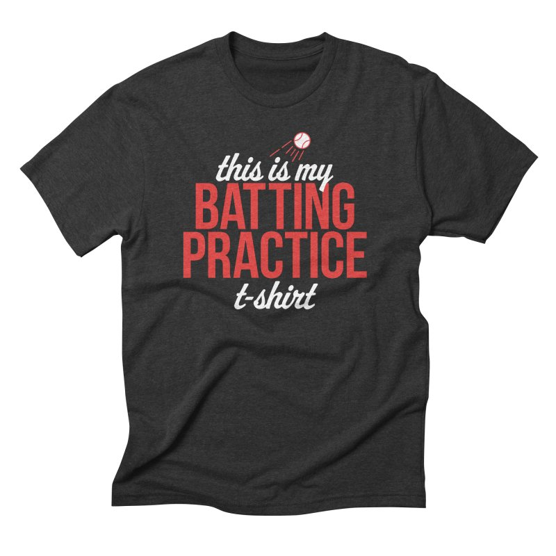 Batting Practice T-Shirt Men's Triblend T-Shirt by Official DodgerBlue.com Shop