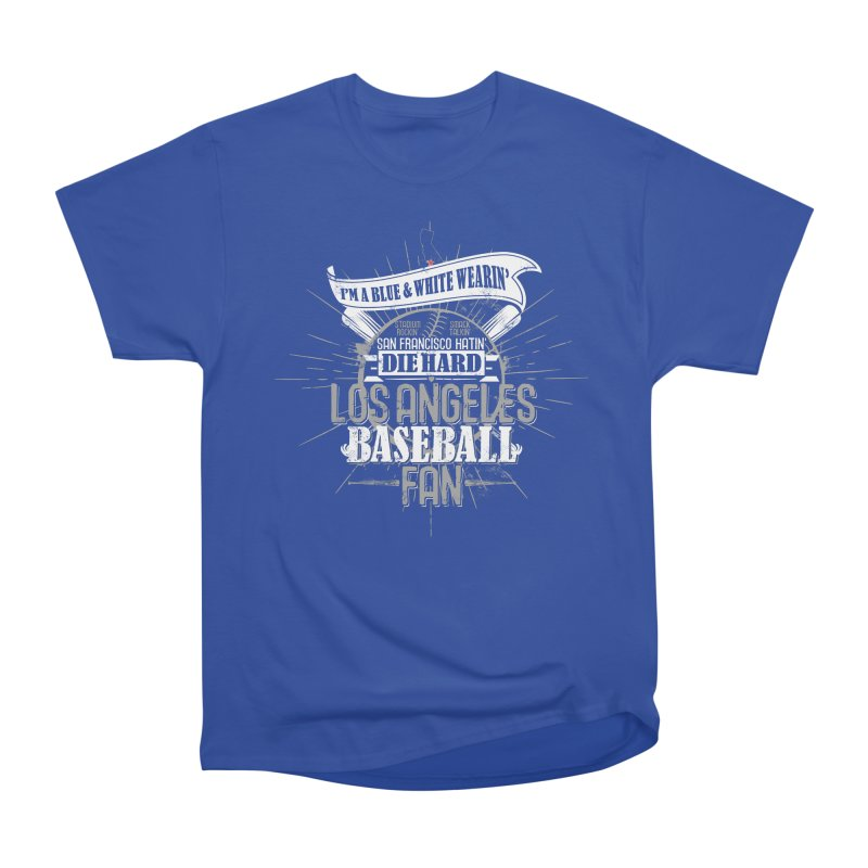 LA Fan Women's Heavyweight Unisex T-Shirt by Official DodgerBlue.com Shop