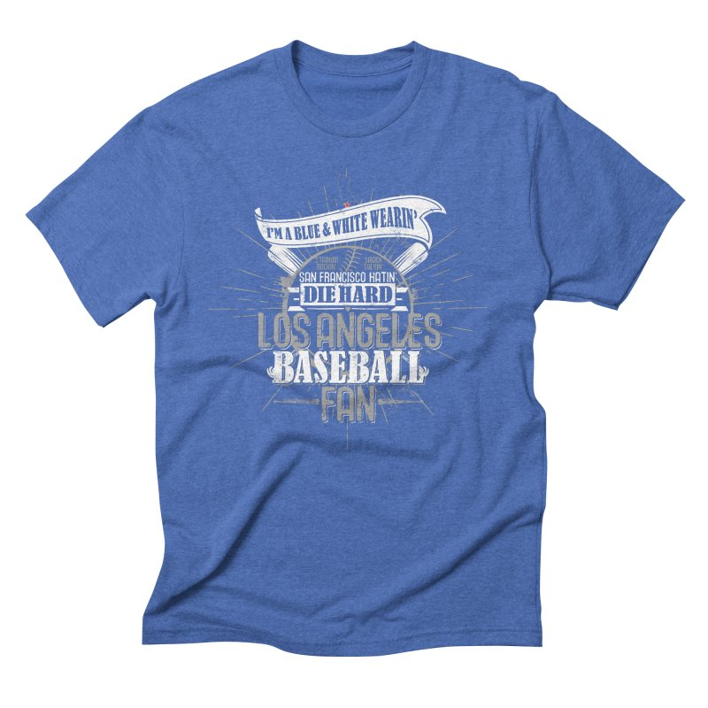 LA Fan Men's Triblend T-Shirt by Official DodgerBlue.com Shop