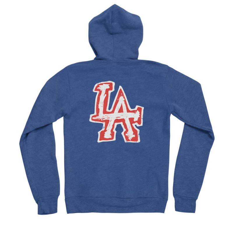 New LA Men's Sponge Fleece Zip-Up Hoody by Official DodgerBlue.com Shop