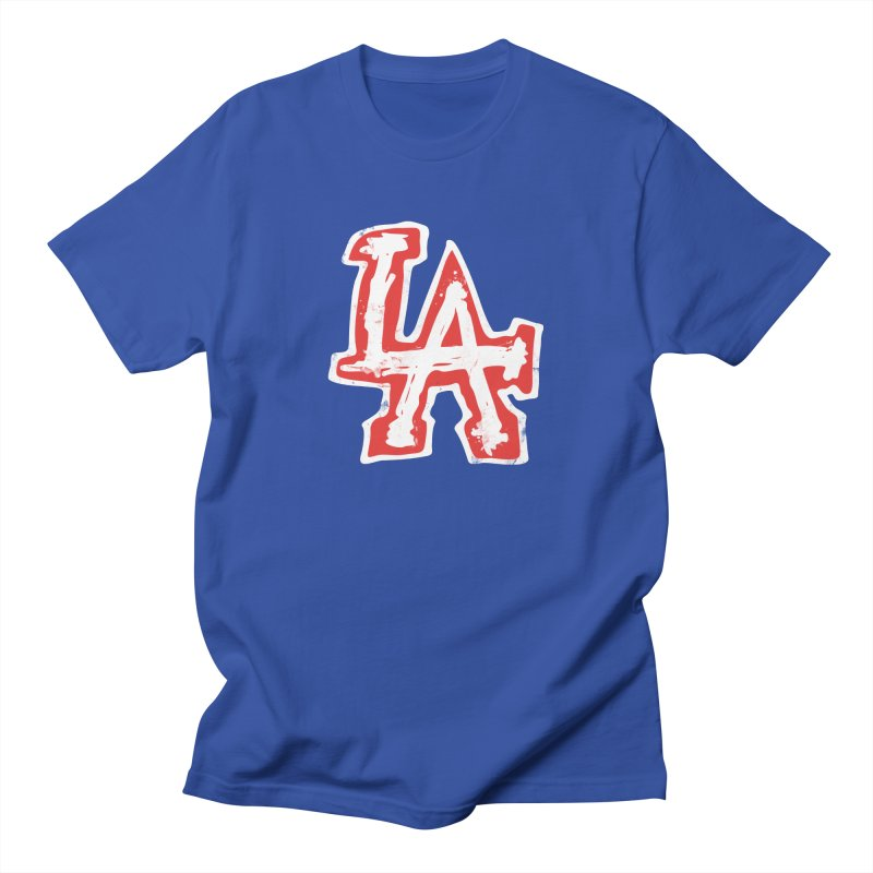 New LA in Men's Regular T-Shirt Royal Blue by Official DodgerBlue.com Shop