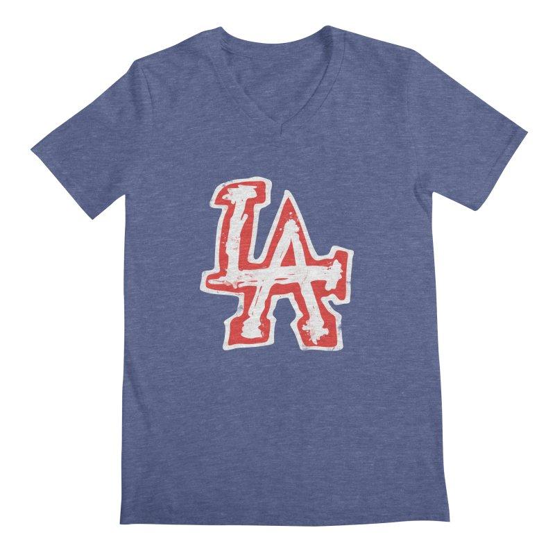 New LA Men's Regular V-Neck by Official DodgerBlue.com Shop