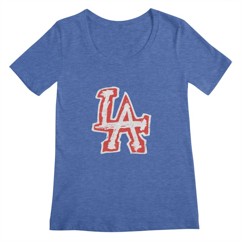 New LA Women's Regular Scoop Neck by Official DodgerBlue.com Shop