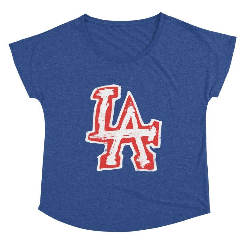 New LA Women's Scoop Neck by Official DodgerBlue.com Shop