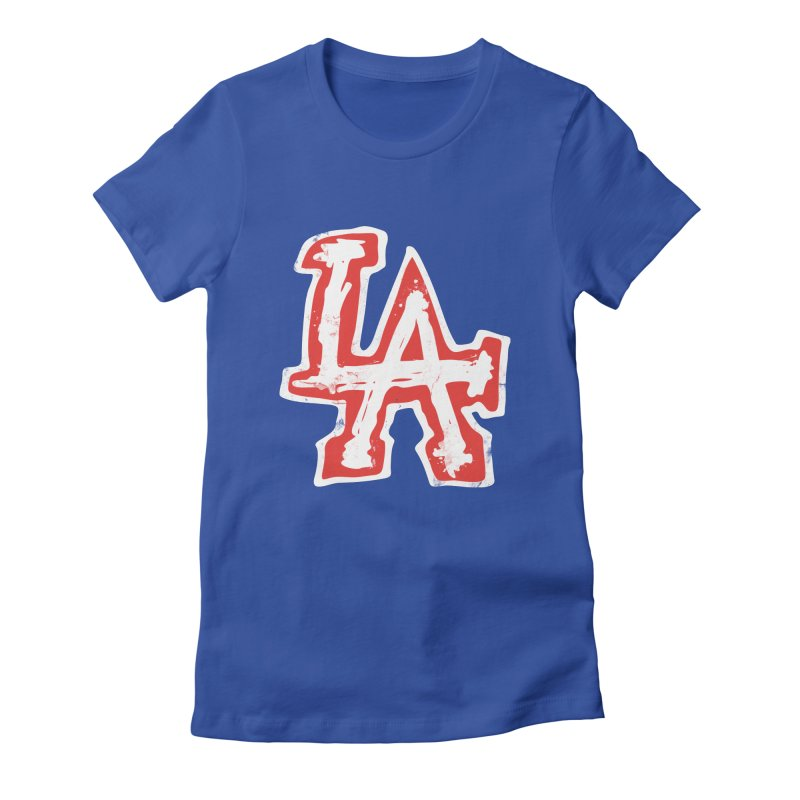 New LA Women's Fitted T-Shirt by Official DodgerBlue.com Shop