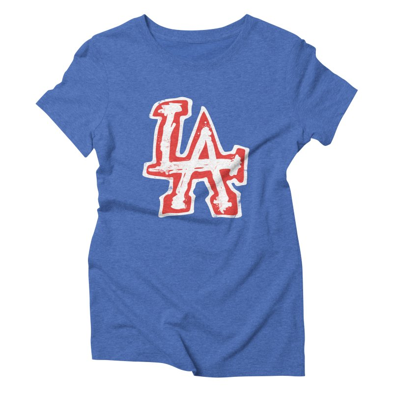 New LA Women's Triblend T-Shirt by Official DodgerBlue.com Shop