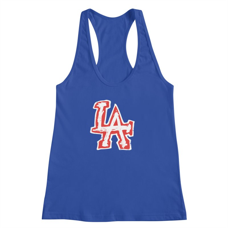 New LA Women's Racerback Tank by Official DodgerBlue.com Shop
