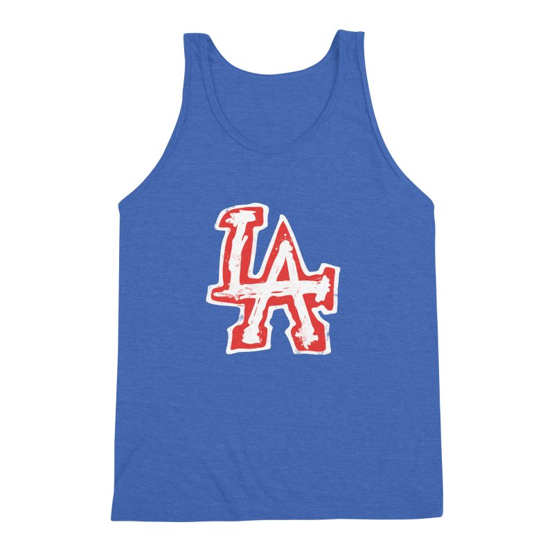 New LA Men's Triblend Tank by Official DodgerBlue.com Shop