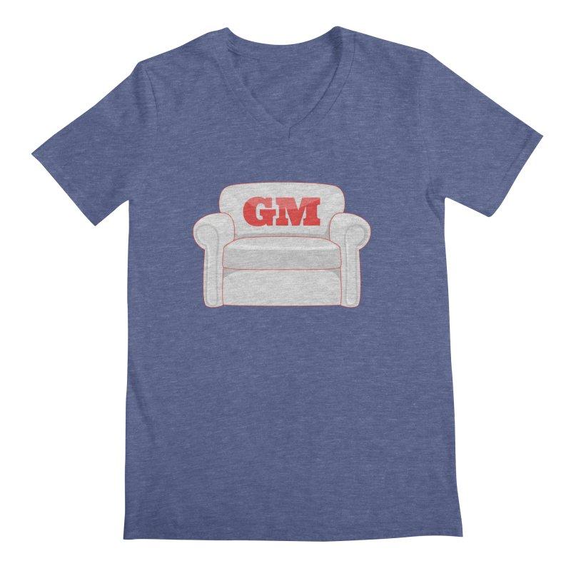 Armchair GM Men's Regular V-Neck by Official DodgerBlue.com Shop