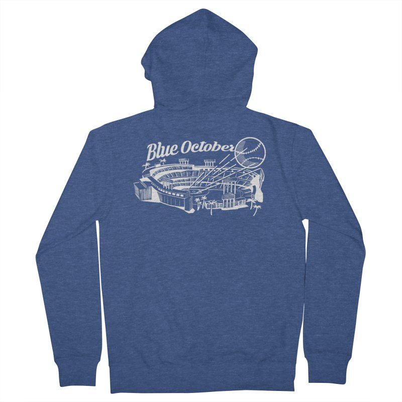 Blue October Men's French Terry Zip-Up Hoody by Official DodgerBlue.com Shop