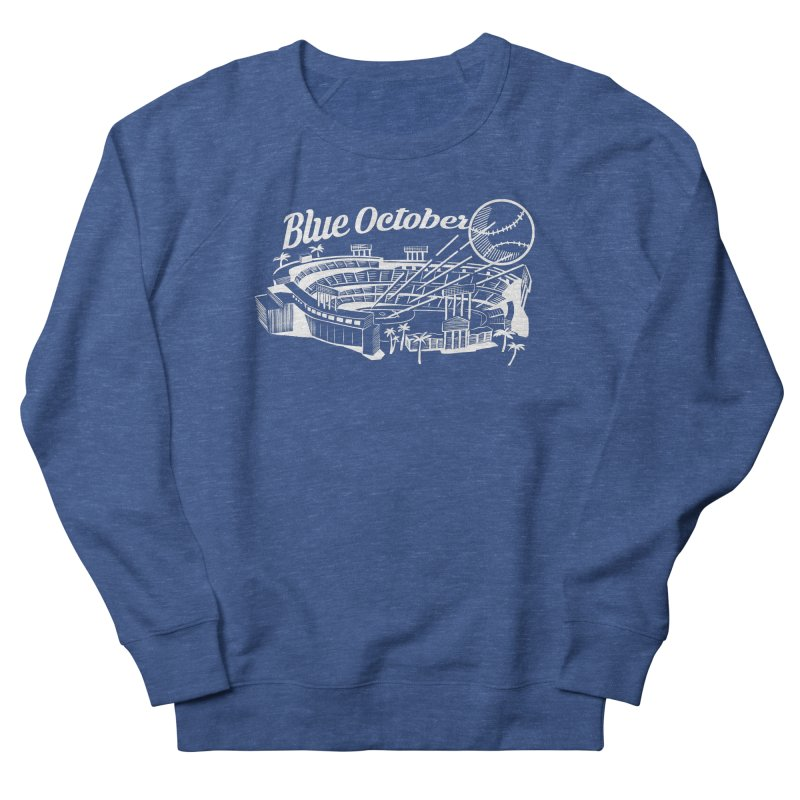 Blue October Men's French Terry Sweatshirt by Official DodgerBlue.com Shop
