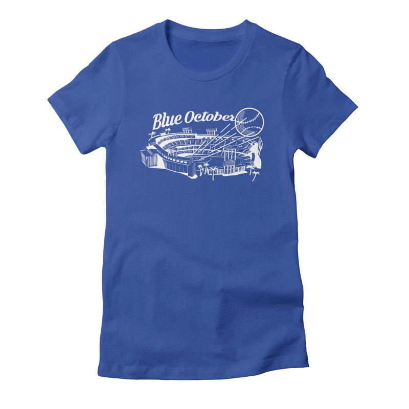 Blue October Women's Fitted T-Shirt by Official DodgerBlue.com Shop