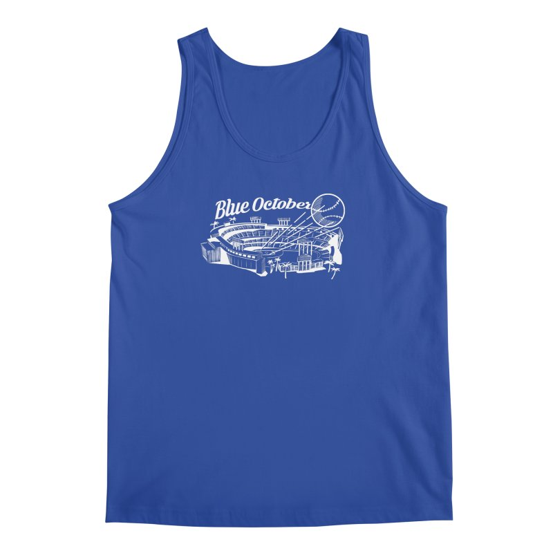 Blue October Men's Regular Tank by Official DodgerBlue.com Shop