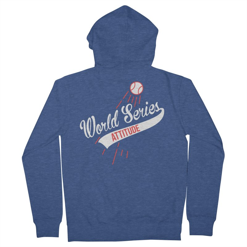 World Series Attitude Women's French Terry Zip-Up Hoody by Official DodgerBlue.com Shop
