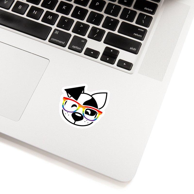 Deb Pride Accessories Sticker by dogearbooks's Artist Shop