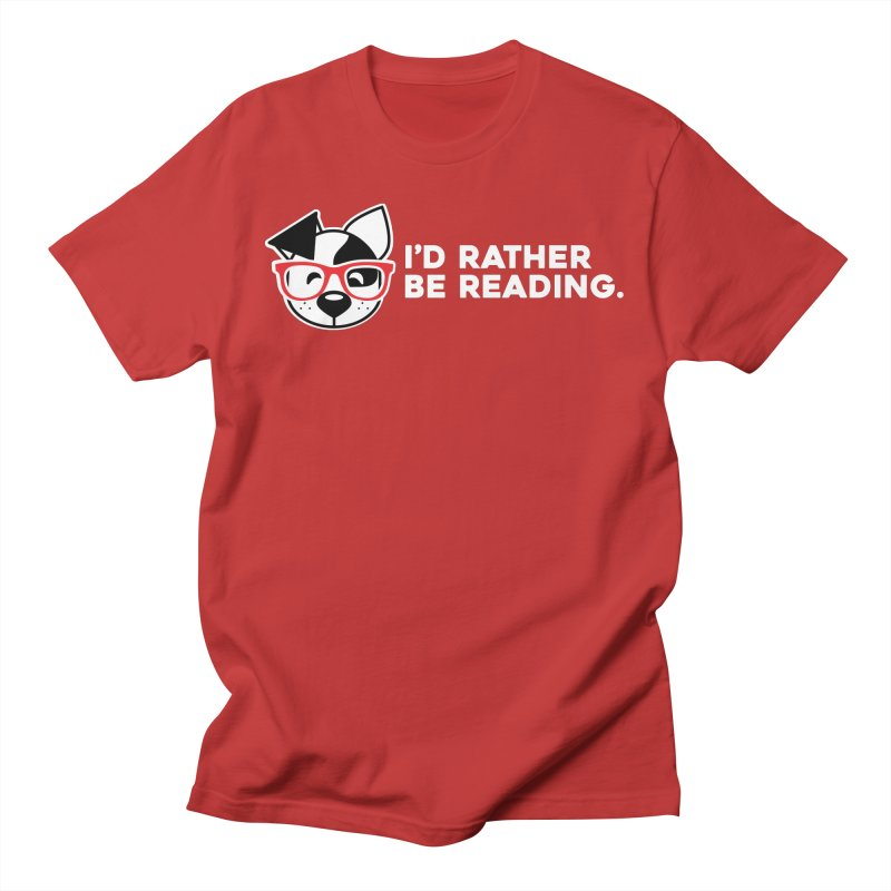 Rather Read Men's T-Shirt by dogearbooks's Artist Shop