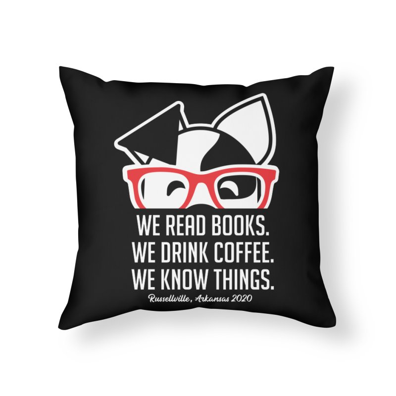 Deb Knows Things Home Throw Pillow by dogearbooks's Artist Shop