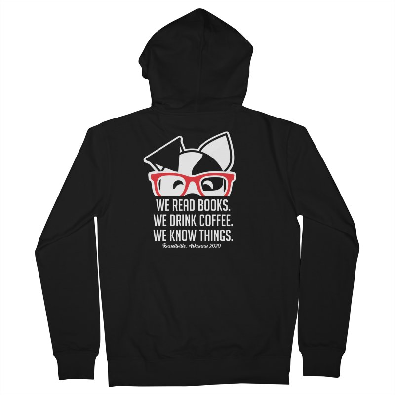 Deb Knows Things Men's Zip-Up Hoody by dogearbooks's Artist Shop