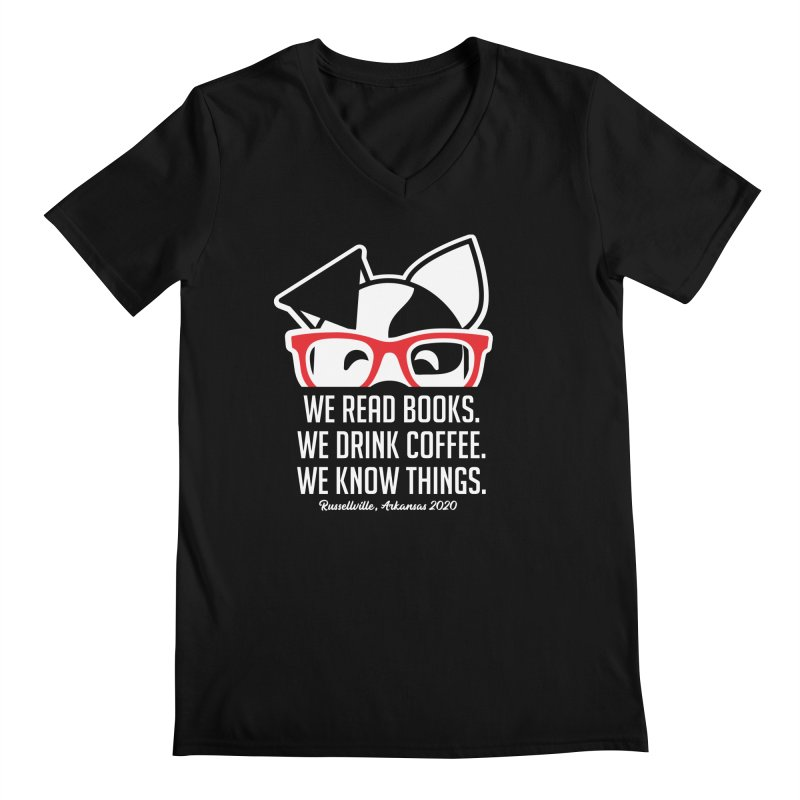 Deb Knows Things Men's V-Neck by dogearbooks's Artist Shop