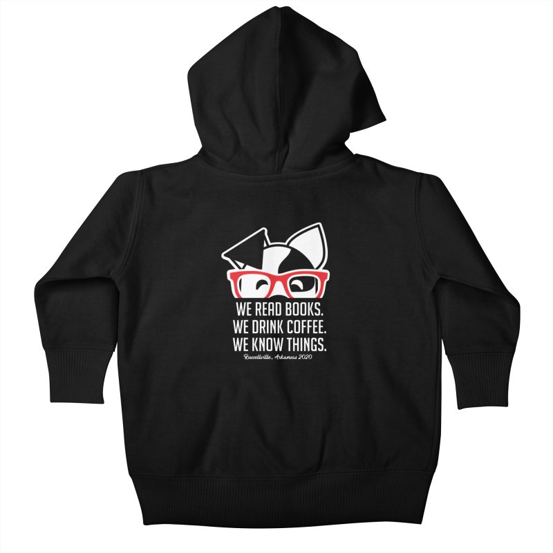 Deb Knows Things Kids Baby Zip-Up Hoody by dogearbooks's Artist Shop