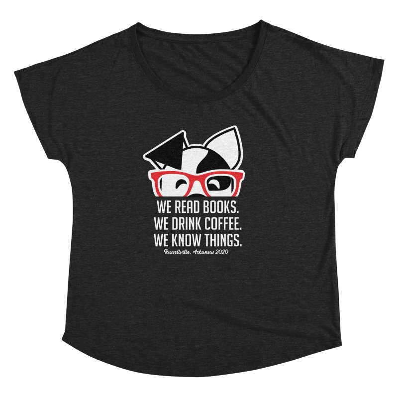Deb Knows Things Women's Scoop Neck by dogearbooks's Artist Shop