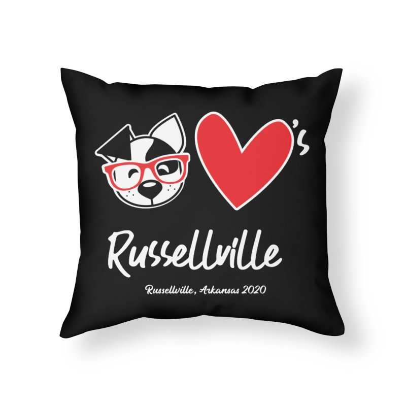 Deb Hearts Russellville Home Throw Pillow by dogearbooks's Artist Shop