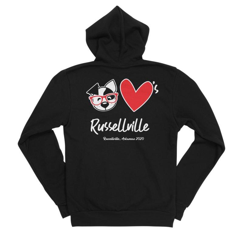 Deb Hearts Russellville Men's Zip-Up Hoody by dogearbooks's Artist Shop