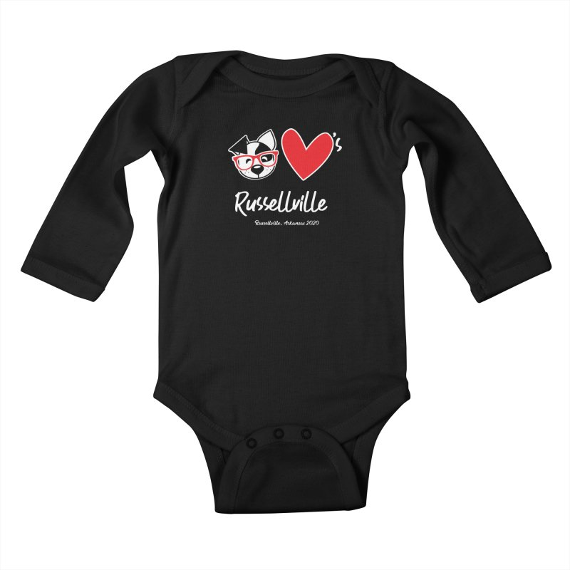 Deb Hearts Russellville Kids Baby Longsleeve Bodysuit by dogearbooks's Artist Shop