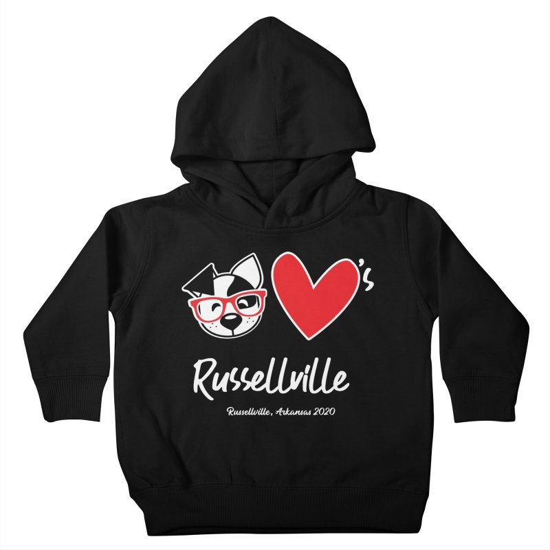 Deb Hearts Russellville Kids Toddler Pullover Hoody by dogearbooks's Artist Shop