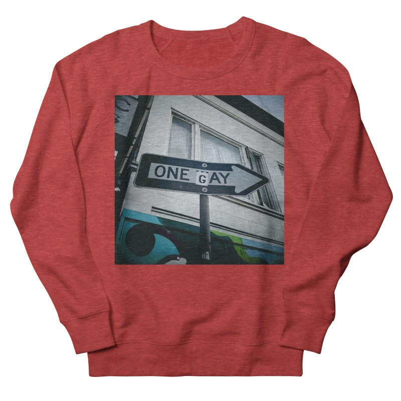 One Way Gay Men's French Terry Sweatshirt by Dogfish's Merch