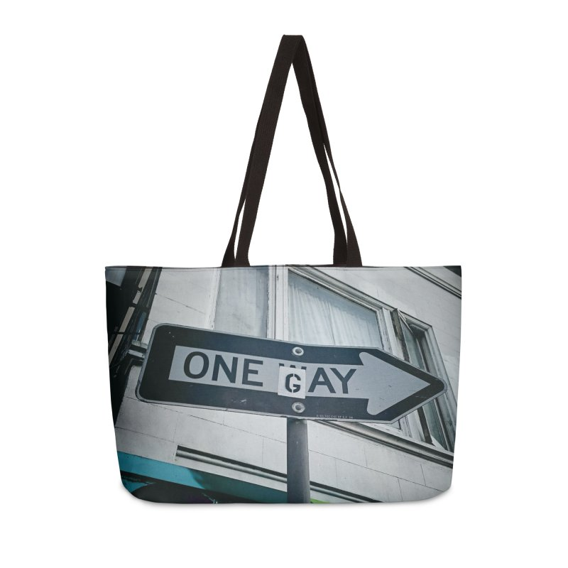 One Way Gay Accessories Weekender Bag Bag by Dogfish's Merch