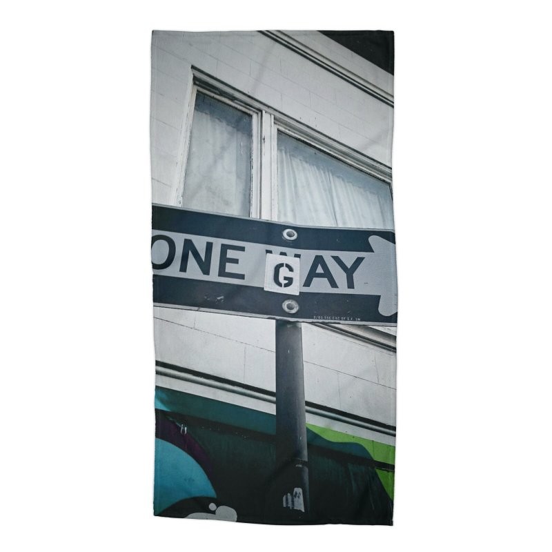 One Way Gay Accessories Beach Towel by Dogfish's Merch