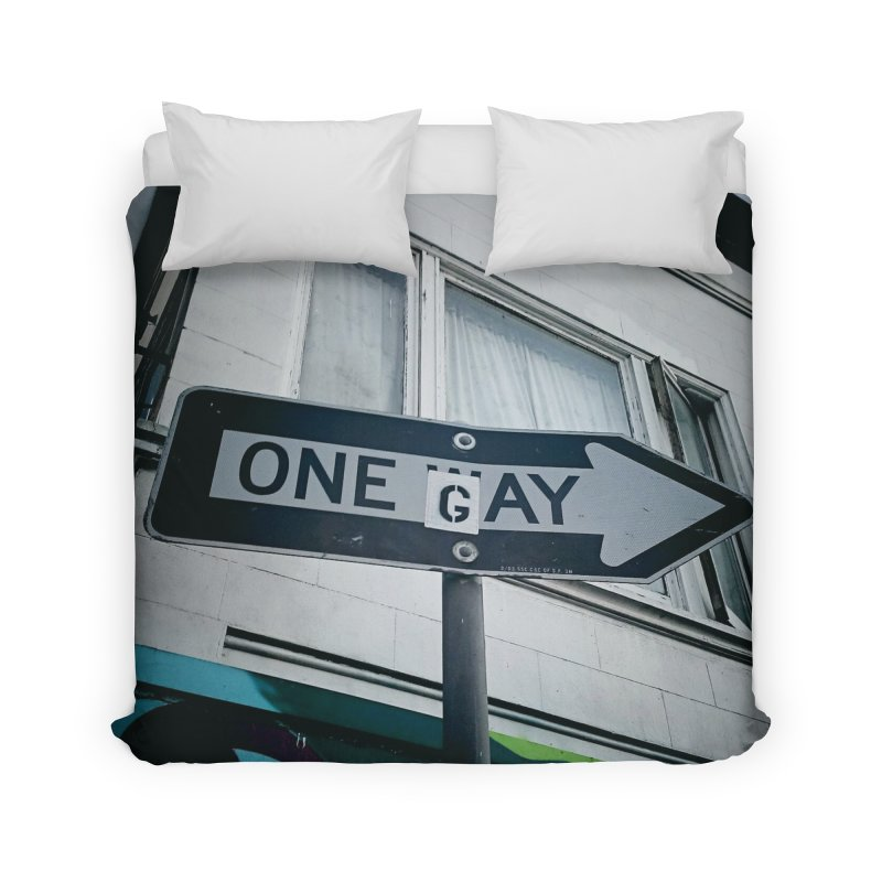 One Way Gay Home Duvet by Dogfish's Merch