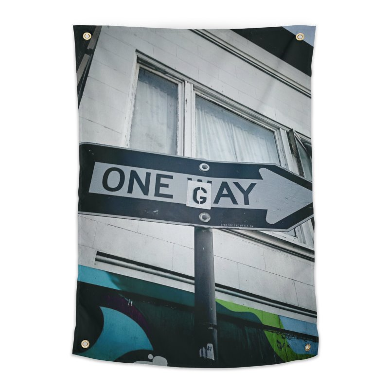 One Way Gay Home Tapestry by Dogfish's Merch