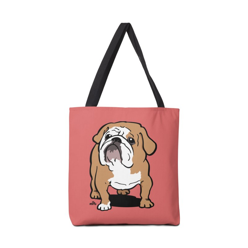 English bulldog cartoon dog t-shirt Accessories Bag by DogiStyle Dog Shirts