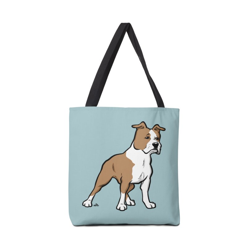 Amstaff cartoon dog breed t-shirt Accessories Bag by DogiStyle Dog Shirts