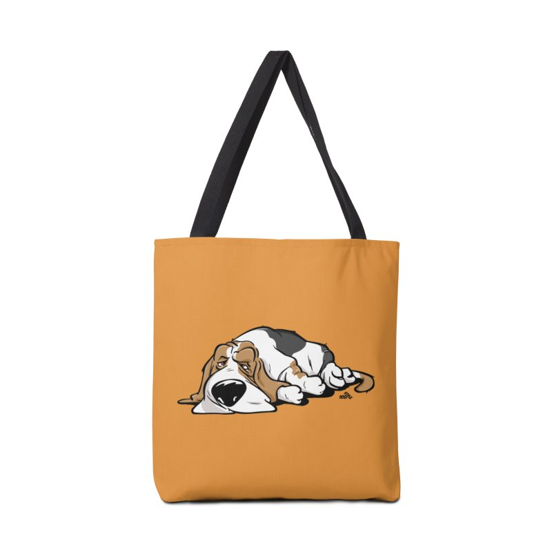 Basset cartoon dog breed t-shirt Accessories Bag by DogiStyle Dog Shirts